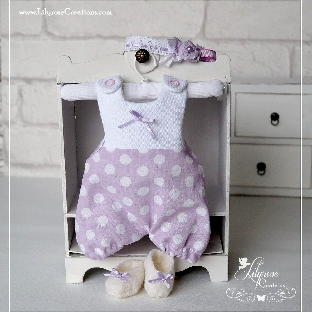 Ensemble barboteuse Lilas
